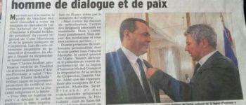 La Légion d'honneur à khalid Belkhadir, homme de dialogue et de paix