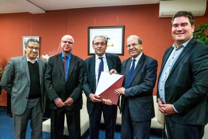Visite effectuée au Maire de Strasbourg le 22 décembre 2017