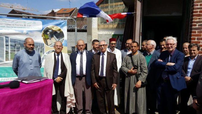 Pose de la première pierre de la mosquée de Roubaix
