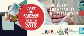 Journées Européennes du Patrimoine le 15 et 16 septembre 2018