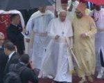 Transmission en direct des discours du pape François et du Roi Mohammed VI