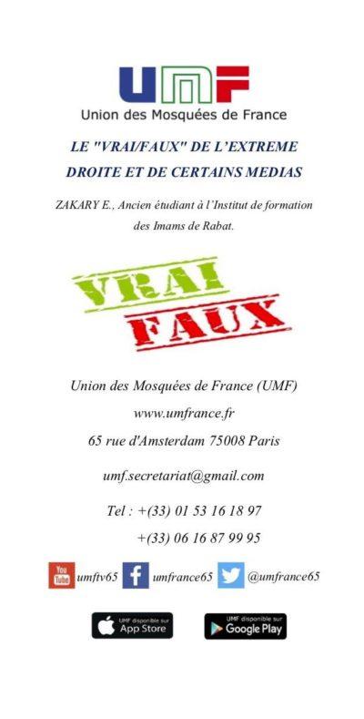 """LE """"VRAI/FAUX"""" DE L'EXTREME DROITE ET DE CERTAINS MEDIAS"""